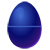 Dark Blue Easter Egg