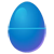 Light Blue Easter Egg