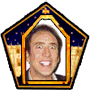 Nicolas Cage Chocolate Frog Card
